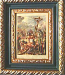 Click here to enlarge image and see more about item 112807011: ORIGINAL COLORED PLATE OF THE CRUCIFIXION