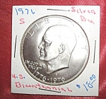 Click here to enlarge image and see more about item 112907005: Eisenhower Bicentennial Silver Dollar 1976 S BU