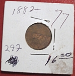 Click here to enlarge image and see more about item 121007002: Indian Head Penny 1882
