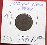 Click here to enlarge image and see more about item 121007005: Indian Head Penny 1890