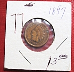 Click here to enlarge image and see more about item 121007007: Indian head penny 1897