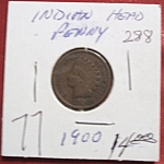 Click here to enlarge image and see more about item 121007010: Indian Head Penny 1900