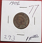 Click here to enlarge image and see more about item 121007012: Indian Head Penny 1902