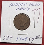 Click here to enlarge image and see more about item 121007013: Indian Head Penny 1904