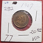 Indian Head Penny 1907 VF