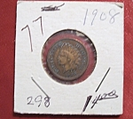 Click here to enlarge image and see more about item 121007020: Indian Head Penny 1908
