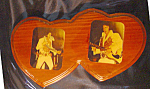 Click here to enlarge image and see more about item 121707005: ELVIS IN MY HEART ORIGINAL LACQUERED PHOTO ON WOOD