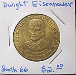 Click here to enlarge image and see more about item 121707008: Dwight Eisenhower commemorative token.