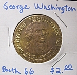 Click here to enlarge image and see more about item 121707009: George Washington commemorative token