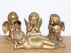 4 GOLD COLORED ANGELS (Image1)