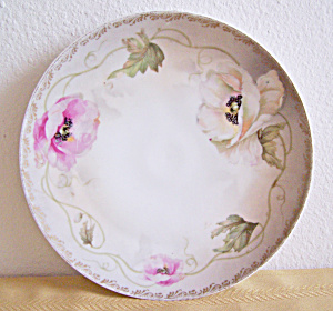Hand Painted Flowers on Plate & Signed Royal Rudolstadt (Image1)
