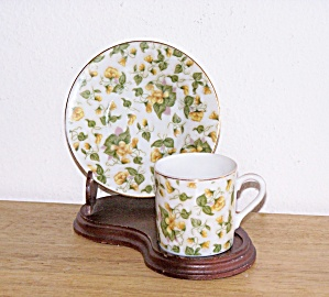 YELLOW CHINTZ DEMITASSE CUP & SAUCER (Image1)