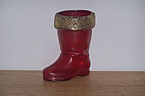Santa's Boot Candy Container