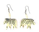 WOODEN ZEBRA EARRINGS (Image1)