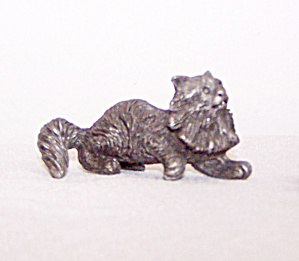 Spoontiques Pewter Fluffy Cat
