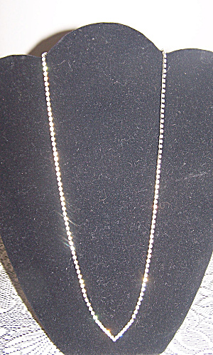'v' Drop Rhinestone Long Necklace