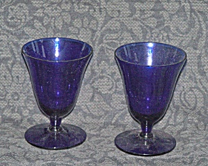 PAIR OF COBALT BLUE CORDIAL GLASSES (Image1)