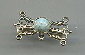 Freirch Pin W/ Faux Turquoise Center
