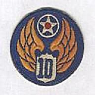 10TH AIR FORCE MILITARY PATCH (Image1)