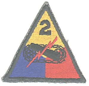 2 ND ARMORED DIV. MILITARY PATCH (Image1)