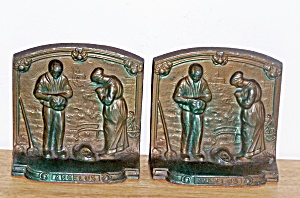 Angelus Cast Metal Bookends