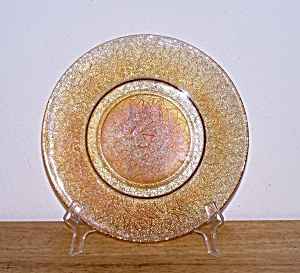 Carnival Glass Crackle Plate