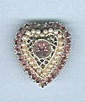 AMETHYST & FAUX PEARLS HEART PIN (Image1)