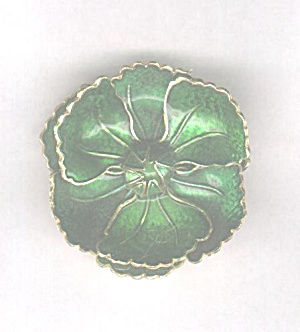 GERMANY GREEN ENAMEL FLOWER PIN (Image1)