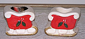 Pair Of Sleigh Candle Holders