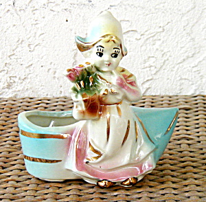 DUTCH GIRL PLANTER, AMERICAN BISQUE (Image1)