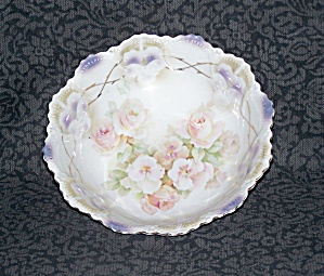 GERMANY FLOWERED SCALLOPED EDGE BOWL (Image1)