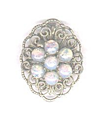IRIDESCENT CLUSTER OF PEARLS PIN (Image1)