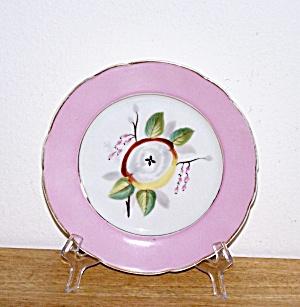 PINK RIMMED FLOWER PLATE (Image1)
