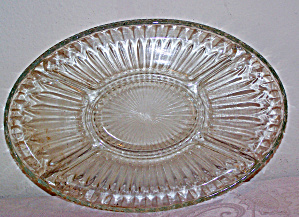 Oval Glass Appetizer Plate