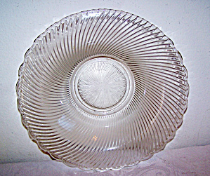 Large Swirl Glass Bowl