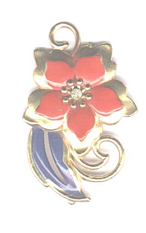 Red, White & Blue Flower Pin
