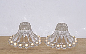 ANCHOR HOCKING BOOPIE GLASS CANDLESTICKS (Image1)