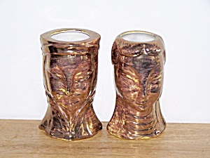 DOUBLE FACED ORIENTAL GOLD VASES (Image1)