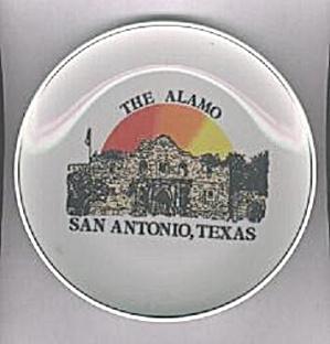 THE ALAMO, SAN ANTONIO, TEXAS SOUVENIR PLATE (Image1)