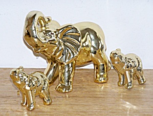 SET OF THREE GOLD ELEPHANTS (Image1)