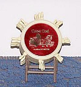 6 PLASTIC COASTERS IN HOLDER FROM CAPE COD (Image1)