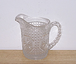 Star Medallion Creamer/small Pitcher, Ca. 1925
