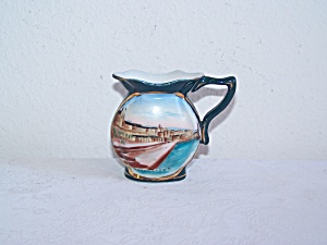 Mini Blue Porcelain Pitcher, Made In Germany