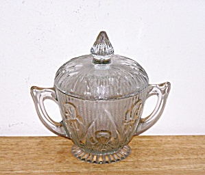 IRIS & HERRINGBONE CRYSTAL SUGAR BOWL (Image1)