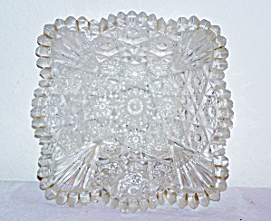 Vintage CUT GLASS Square CANDY Dish (Image1)