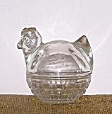 ANCHOR HOCKING 2 PIECE GLASS HEN ON NEST (Image1)