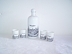 ROYAL BAVARIA KPM Decanter and 4 Cups (Image1)