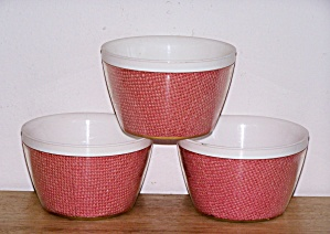 THERMAL WARE STRAW WEAVE 3 BOWLS (Image1)