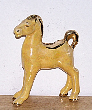 YELLOW LUSTRE, GOLD TRIM, PONY PLANTER (Image1)