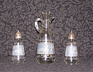SALT, PEPPER & CRUET, BLUE & WHITE (Image1)
